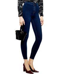 TOPSHOP Joni High Waist Jeans - Blue