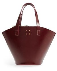 Trademark - Large Leather Bucket Bag - Burgundy - Lyst