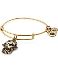 ALEX AND ANI - Hand Of Fatima Adjustable Wire Bangle - Lyst