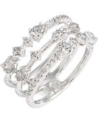 Nadri - Ava Openwork Crystal Ring - Lyst