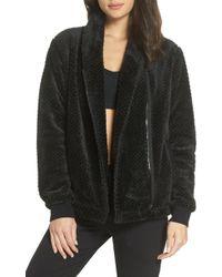 Zella - Diamond Fleece Jacket - Lyst