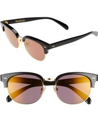 b4285a6e5dc7 Lyst - Wildfox Women s Steff Deluxe Round Acetate Frame Sunglasses ...