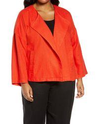 Eileen Fisher - Organic Linen Drape Front Jacket - Lyst