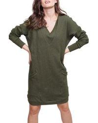 ALLETTE Margo Nursing Sweater Dress - Green