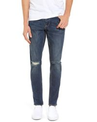 Treasure & Bond | Slim Fit Destroyed Jeans | Lyst