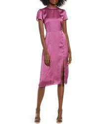Leith Printed Side Slit Dress - Pink