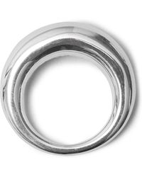 All_blues - Fat Snake Polished Silver Ring - Lyst