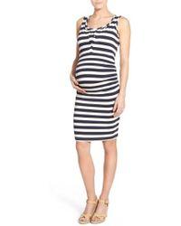 Lab40 - 'joy' Sleeveless Maternity/nursing Midi Dress - Lyst