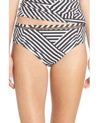 Tommy Bahama - Fractured Stripe Bikini Bottoms - Lyst