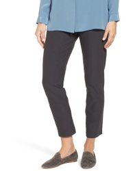 Eileen Fisher | Stretch Crepe Ankle Pants | Lyst