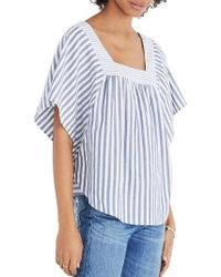 Madewell - Stripe Butterfly Top - Lyst