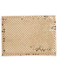 Whiting & Davis Faux Leather & Mesh Card Case - Metallic