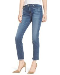 7 For All Mankind - 7 For All Mankind B(air) Roxanne Ankle Straight Leg Jeans - Lyst