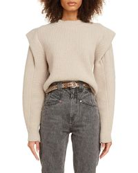 Isabel Marant Layered Cashmere & Wool Sweater - Natural