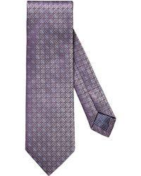 Eton Neat Medallion Silk Tie - Purple