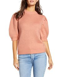 English Factory - Puff Sleeve Sweater - Lyst