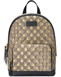 084eefc28bb Gucci - Bee Gg Supreme Canvas Backpack - Lyst