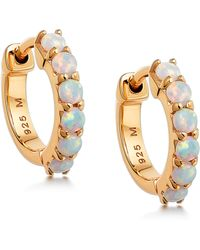 Missoma Opalite Huggie Hoop Earrings - Metallic