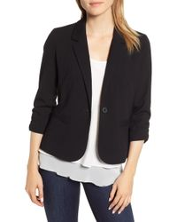 Vince Camuto - Ruched Sleeve Blazer - Lyst