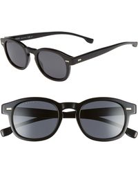 31bf3d41ef1 Lyst - Boss 52mm Sunglasses in Black for Men
