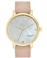 Kate Spade - 'metro' Leather Strap Watch - Lyst