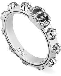 ceba0ecd7eb576 Gucci GG Running Ring in Metallic - Save 5% - Lyst