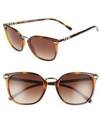 Burberry - 53mm Gradient Square Sunglasses - Lite Havana - Lyst