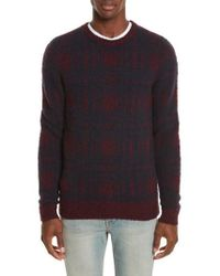 Norse Projects - Sam Intarsia Check Wool Sweater - Lyst