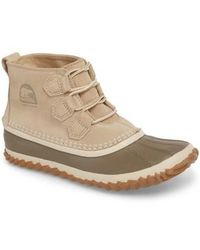 Sorel 'out N About' Leather Boot - Natural