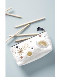 Anthropologie - Claire Embellished Pencil Pouch - Lyst