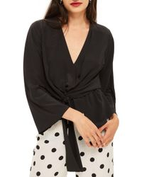 TOPSHOP - Tiffany Asymmetrical Blouse - Lyst