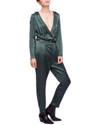 56d2d192ebda Lyst - Free People My Kind Of Woman Linen Blend Jumpsuit