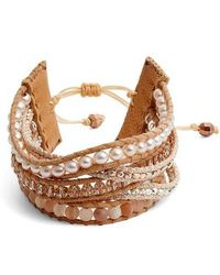 Chan Luu - Multistrand Pull Tie Pearl Mix Bracelet - Lyst