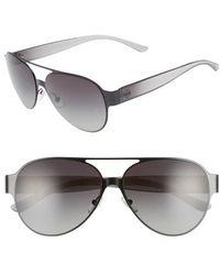 Tory Burch - 58mm Polarized Aviator Sunglasses - Lyst