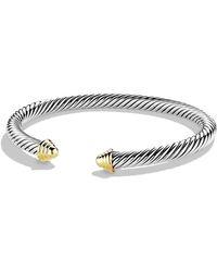 David Yurman - Cable Classics Bracelet With 14k Gold - Lyst