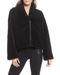 Alo Yoga - Cozy Up High Pile Fleece Crop Jacket - Lyst