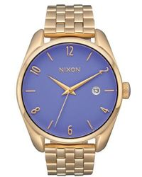 Nixon | 'bullet' Guilloche Dial Bracelet Watch | Lyst