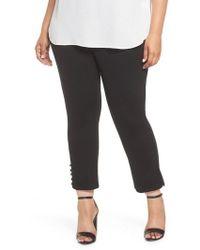 Sejour - Ponte Button Detail Ankle Pants - Lyst