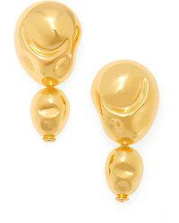 Monica Sordo Double Drop Earrings - Metallic