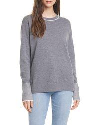 Nordstrom Crewneck Cashmere Tunic Sweater - Gray