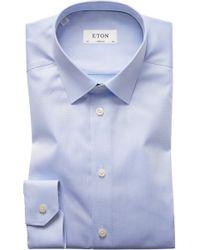 Eton of Sweden - Super Slim Fit Twill Dress Shirt - Lyst