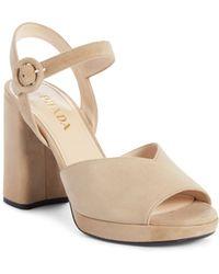 5311f73c16c5 Lyst - Prada Ankle-strap Platform Sandals in Black