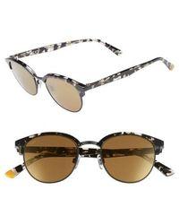 Web - 49mm Half Rim Sunglasses - - Lyst
