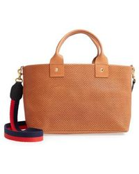 Clare V. - Perforated Bruno Leather Crossbody Bag - Lyst