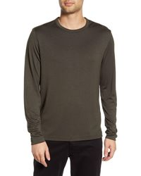 Theory Gaskell Slim Fit Long Sleeve T-shirt - Green