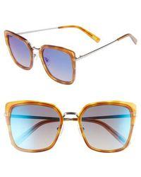DIFF - Skye 52mm Polarized Sunglasses - Honey Tortoise/ Blue - Lyst