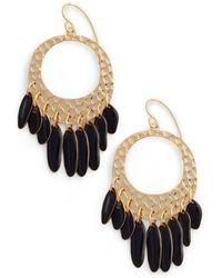Diane von Furstenberg Tassel Hoop Earrings - Metallic
