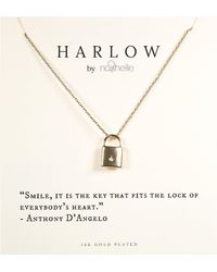 Nashelle Harlow By Lock Boxed Necklace - Metallic