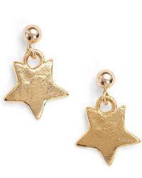 Britt Bolton - Mini Star Drop Earrings - Lyst