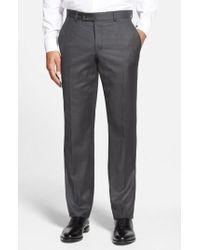 Ted Baker | Jefferson Flat Front Wool Trousers | Lyst